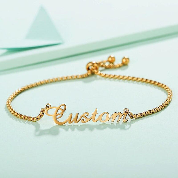 Personalized Name Bracelet Stainless Steel - KHAISTA