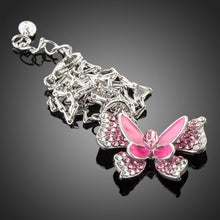 Load image into Gallery viewer, Pink Butterfly Necklace KPN0066 - KHAISTA Fashion Jewellery