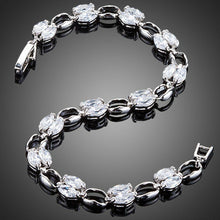 Load image into Gallery viewer, Platinum Plated Toggle Clasp Bracelet - KHAISTA Fashion Jewellery