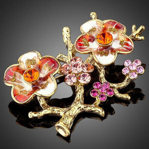 Plum Blossom Branches Pin Brooch - KHAISTA Fashion Jewellery