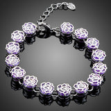 Purple Clasp Lobster Bracelet - KHAISTA Fashion Jewellery