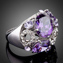 Load image into Gallery viewer, Purple Crystal Fashion Ring - KHAISTA Fashion Jewellery