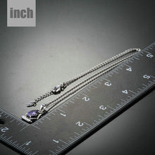 Load image into Gallery viewer, Purple Cubic Zirconia Sail Boat Design Necklace KPN0146 - KHAISTA Fashion Jewellery