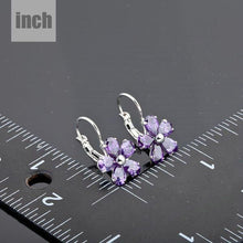Load image into Gallery viewer, Purple Daisy Stud Earrings - KHAISTA Fashion Jewellery