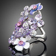 Load image into Gallery viewer, Purple Flower Twig Ring -KFR0006 - KHAISTA