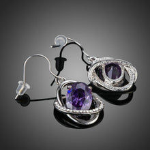 Load image into Gallery viewer, Purple Halo Drop Earrings - KHAISTA Fashion Jewellery