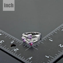 Load image into Gallery viewer, Purple Heart Ring for Women - KHAISTA Fashion Jewellery