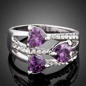 Purple Heart Ring for Women - KHAISTA Fashion Jewellery