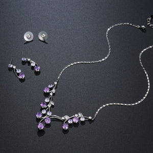 Purple Jewellery Set for Engagement Wedding Day - KHAISTA Fashion Jewellery