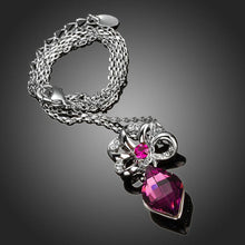 Load image into Gallery viewer, Purple Stellux Austrian Crystal Necklace KPN0150 - KHAISTA Fashion Jewellery