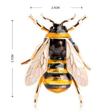 Load image into Gallery viewer, Queen Honey Bee Brooch - KHAISTA Fashion Jewellery