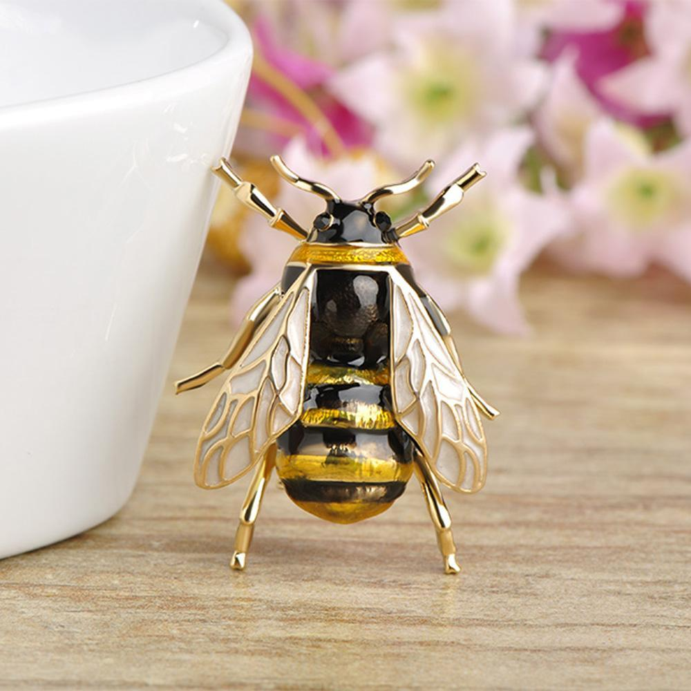 Queen Honey Bee Brooch - KHAISTA Fashion Jewellery