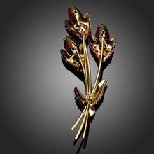 Load image into Gallery viewer, Red Scion Crystal Brooch Pin - KHAISTA Fashion Jewellery