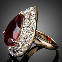 Load image into Gallery viewer, Red Water Drop Ring - KHAISTA Fashion Jewellery