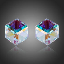Load image into Gallery viewer, Retro Crystal Cube Stud Earrings - KHAISTA Fashion Jewellery