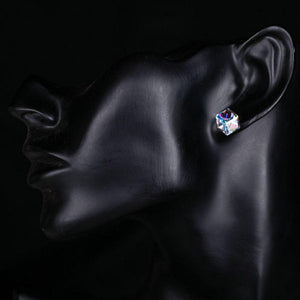 Retro Crystal Cube Stud Earrings - KHAISTA Fashion Jewellery