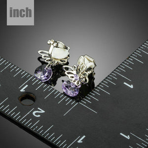 Rhinestone Butterfly Clip Earrings - KHAISTA Fashion Jewellery