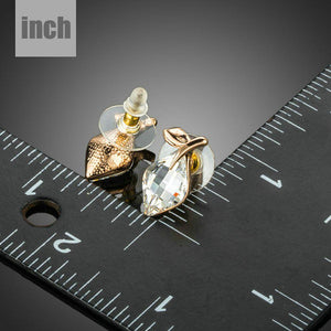 Rhinestone Crystal Stud Earrings - KHAISTA Fashion Jewellery