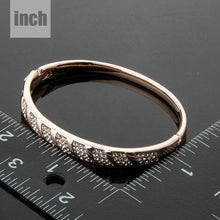 Load image into Gallery viewer, Rose Gold Classic Design Bangle -KBQ0028 - KHAISTA Fashion Jewelry