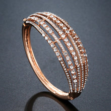 Load image into Gallery viewer, Rose Gold Hollow Bangle -KBQ0109 - KHAISTA Fashion Jewelry