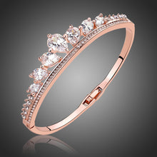 Load image into Gallery viewer, Rose Gold Rhinestone Cubic Zirconia Bracelet -KBQ0102 - KHAISTA Fashion Jewelry
