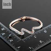 Load image into Gallery viewer, Rose Gold Wave Bracelet -KBQ0018 - KHAISTA Fashion Jewelry