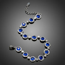 Load image into Gallery viewer, Round Blue CZ Stone Bracelet - KHAISTA Fashion Jewellery