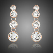 Load image into Gallery viewer, Round Crystal Chain Drop Earrings - KHAISTA Fashion Jewellery