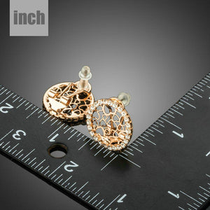 Round Cubic Zirconia Hearts Clip Earrings - KHAISTA Fashion Jewellery