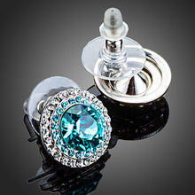 Load image into Gallery viewer, Round Deep Sea Stud Earrings - KHAISTA Fashion Jewellery