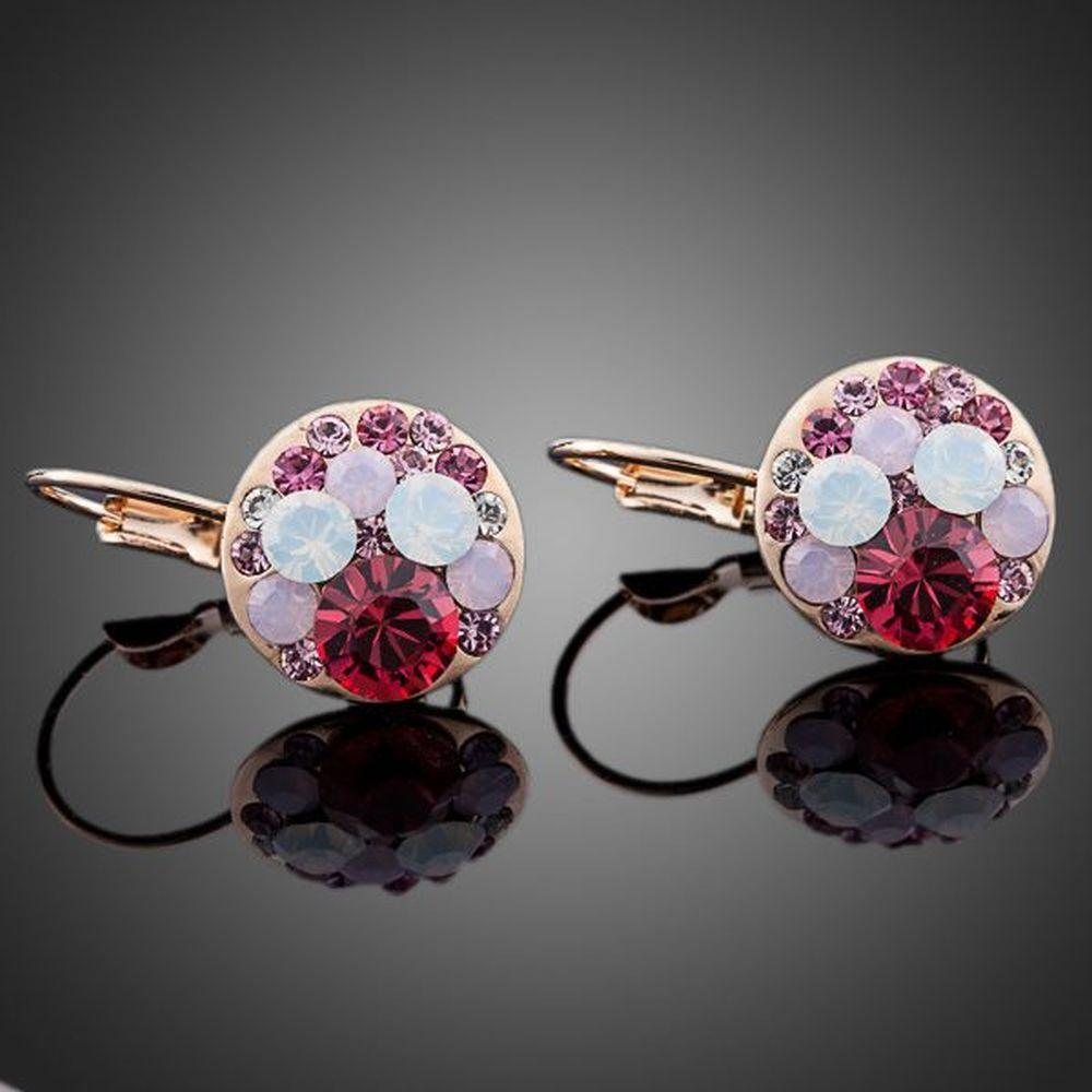 Round Red Blood Clip Earrings - KHAISTA Fashion Jewellery