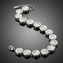 Load image into Gallery viewer, Round Rhinestone Chain Link Bracelet - KHAISTA Fashion Jewellery