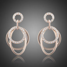 Load image into Gallery viewer, Round Rhinestones Drop Earrings - KHAISTA Fashion Jewellery