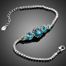 Load image into Gallery viewer, Round Sea Blue Studs Crystal Bracelet - KHAISTA Fashion Jewellery