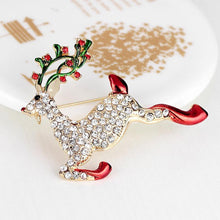 Load image into Gallery viewer, Rudolph Deer Brooch - KHAISTA Fashion Jewellery