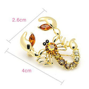 Scary Scorpion Brooch - KHAISTA Fashion Jewellery