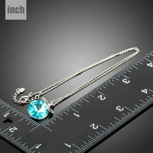 Load image into Gallery viewer, Sea Blue Austrian Crystal Necklace KPN0233 - KHAISTA Fashion Jewellery