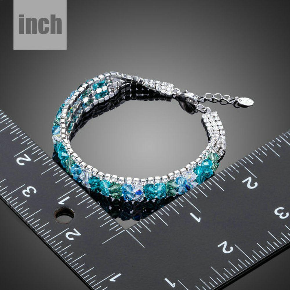 Sea Blue Lobster Clasp Bracelet - KHAISTA Fashion Jewellery