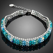 Load image into Gallery viewer, Sea Blue Lobster Clasp Bracelet - KHAISTA Fashion Jewellery
