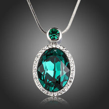 Load image into Gallery viewer, Sea Green Crystal Pendant Necklace - KHAISTA Fashion Jewellery