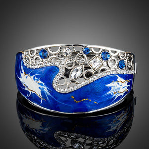 Sea Vibes Crystal Bangle - KHAISTA Fashion Jewellery