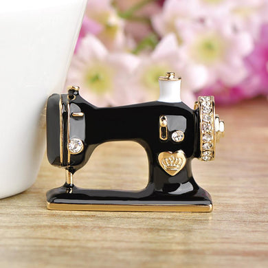 Sewing Machine Brooch - KHAISTA Fashion Jewellery