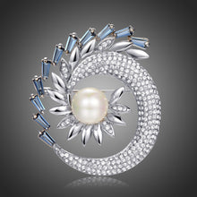 Load image into Gallery viewer, Shining Rhinestone Pearl Sunflower Large Brooch - KHAISTA Fashion Jewellery