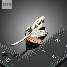 Load image into Gallery viewer, Shinning Luxury CZ Plant Leaf Fashion Brooches Pins For Women - KHAISTA Fashion Jewellery