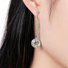 Load image into Gallery viewer, Shiny Arc Long Dangle Drop Earrings -KPE0331 - KHAISTA Fashion Jewellery