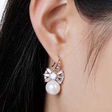 Load image into Gallery viewer, Simulated Pearl Earrings -KPE0332 - KHAISTA Fashion Jewellery