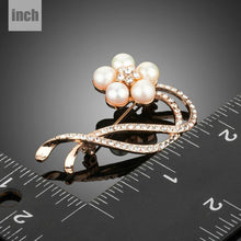 Load image into Gallery viewer, Simulated Pearl Flower Brooch - KHAISTA Fashion Jewellery