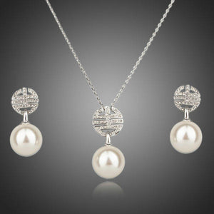 Simulated Pearl Light Jewelry Set - KHAISTA Fashion Jewellery