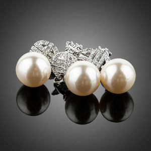 Simulated Pearl Light Jewelry Set-khaista-MJJ0076-2