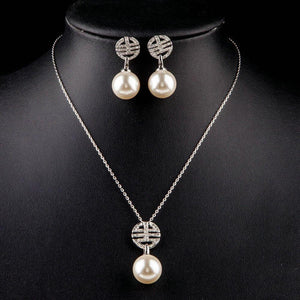 Simulated Pearl Light Jewelry Set-khaista-MJJ0076-4